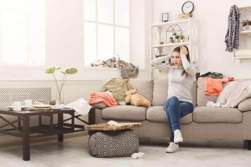 How do I declutter my living room