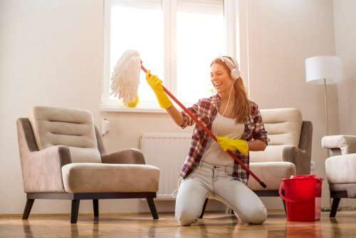 How do you clean a messy living room fast